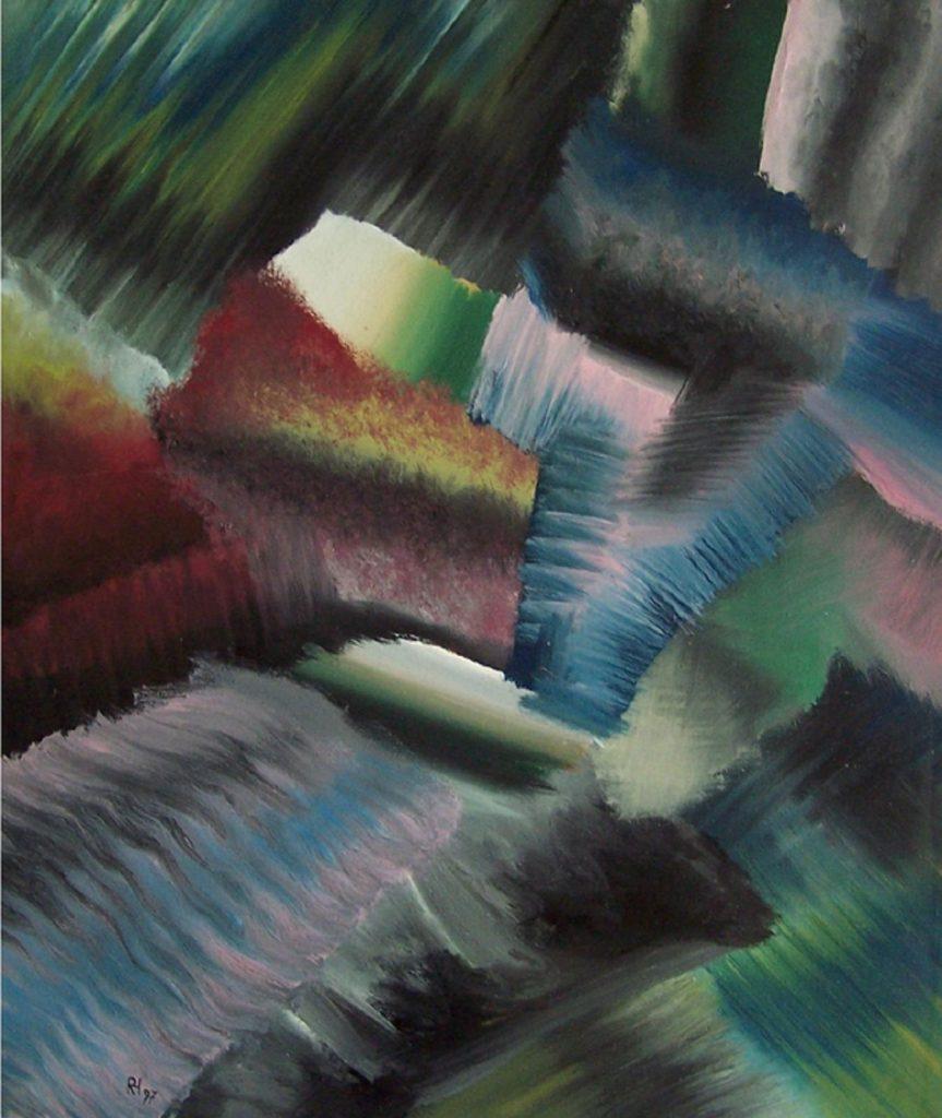 """Weg"", Acryl auf Lw., 70 x 60 cm, 1997"