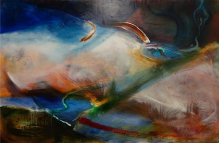 o.T. Öl/Aryl auf Holz, 110 x 168 cm, 2016